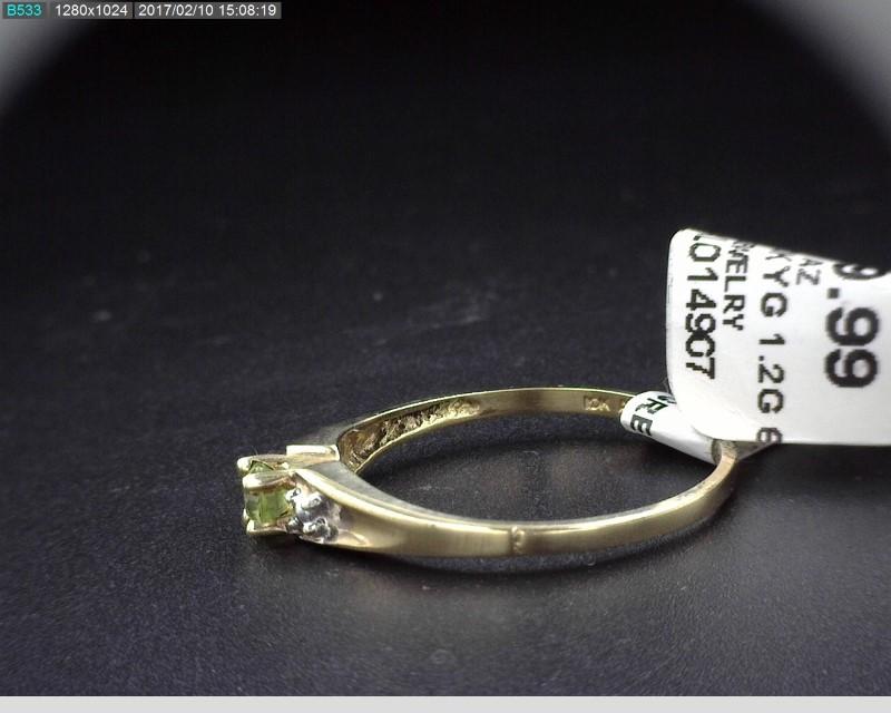 LADY'S PERIDOT 10K YELLOW GOLD RING 1.2G 10K