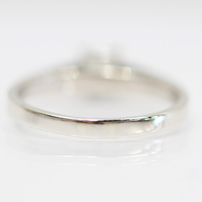 14K White Gold Princess Cut Diamond Solitaire Ring Size 8