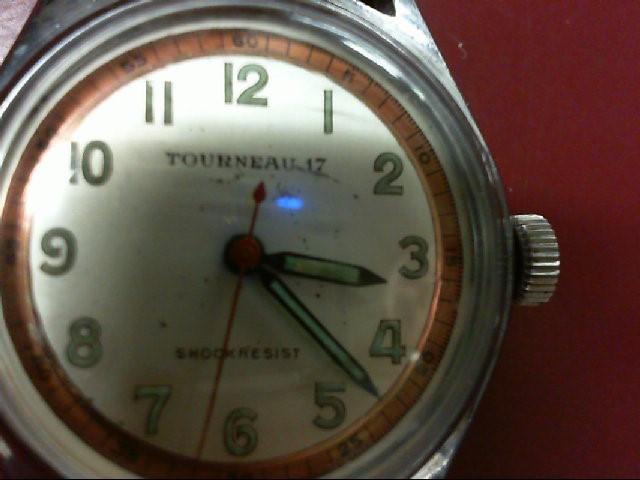 TOURNEAU 17 SHOCKRESIST WATCH WITH BROWN BAND