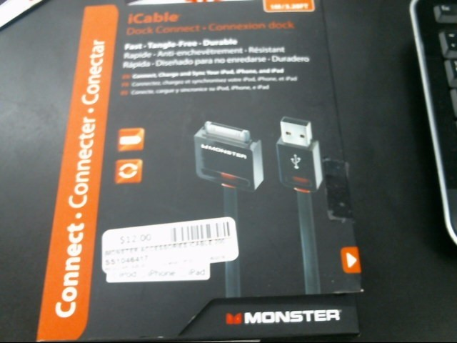 MONSTER IPOD/MP3 Accessory ICABLE 200