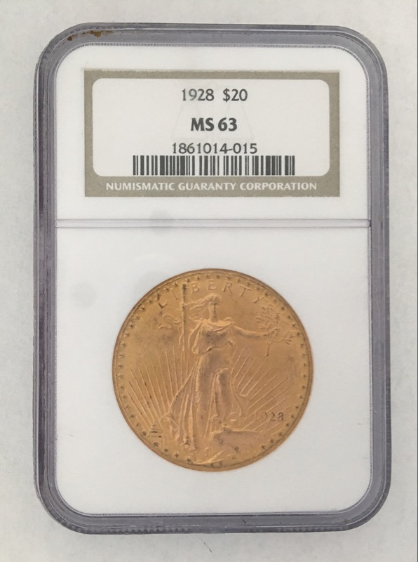 1928 St. Gaudens $20 Gold Double Eagle