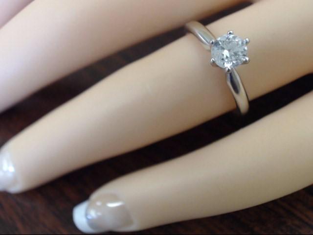 ESTATE NATURAL DIAMOND 0.4 CTW ENGAGE WED RING 14K WHITE GOLD SZ 5.5