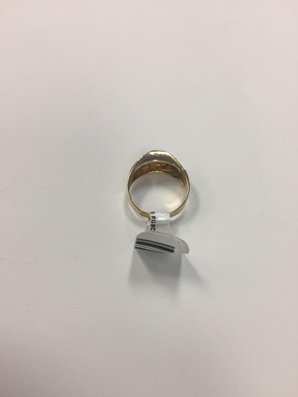 Lady's Diamond Cluster Ring 9 Diamonds .09 Carat T.W. 10K Yellow Gold 3.2g
