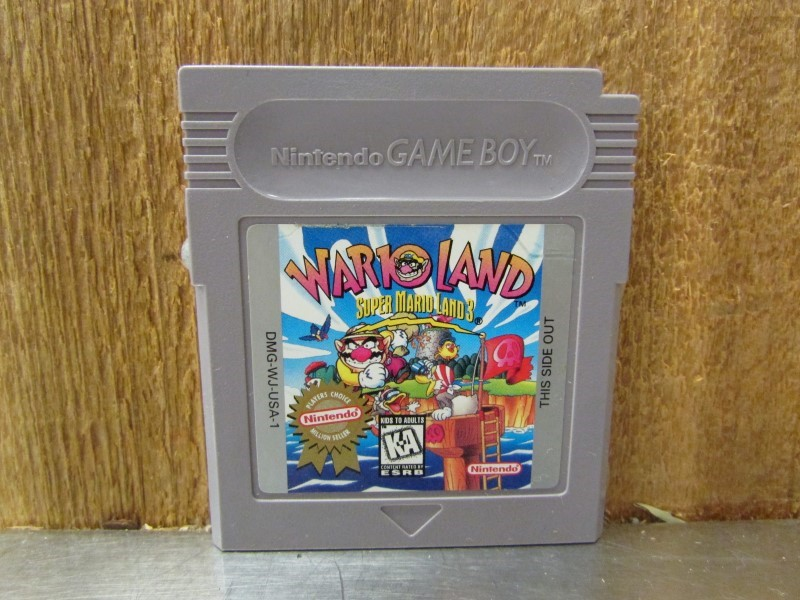 NINTENDO Vintage Game WARIO LAND SUPER MARIO LAND 3