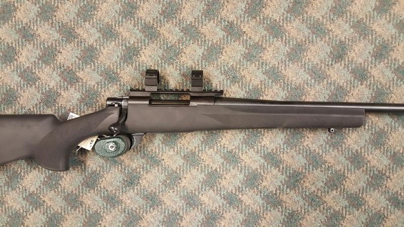 """HOWA1500 HOGUE 22"""" .243 BOLT ACTION RIFE WITH SCOPE RING - USED/LIKE NEW"""