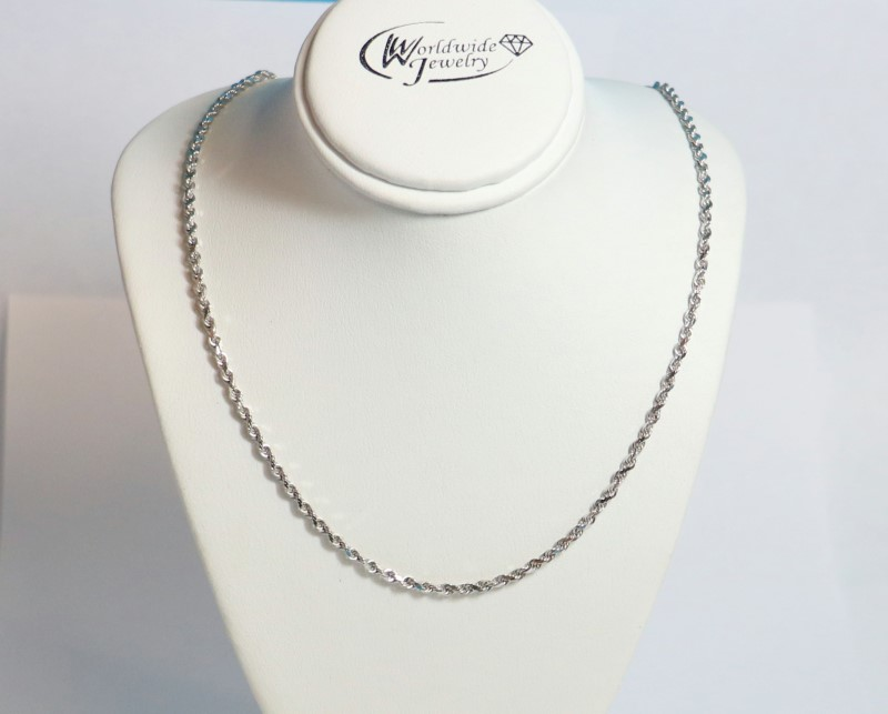 Gold Rope Chain 14K White Gold 8g