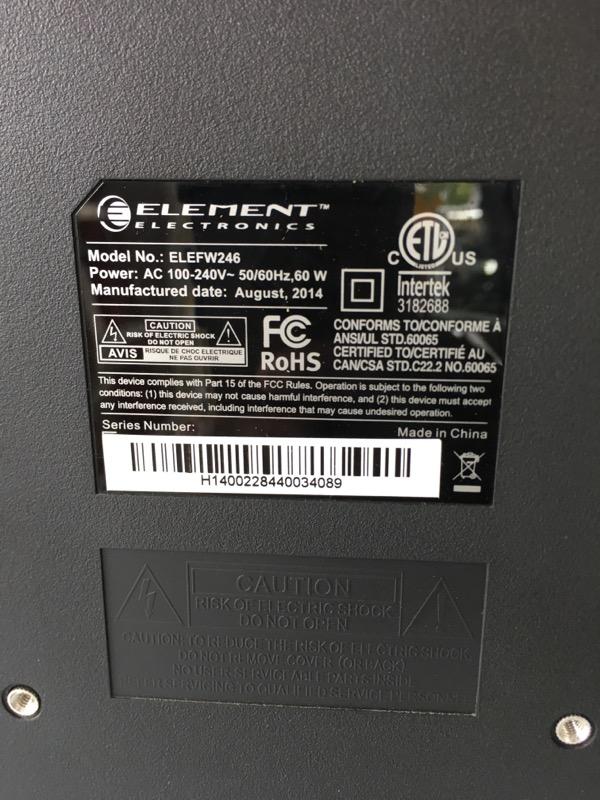 ELEMENT ELECTRONICS Flat Panel Television ELEFW246
