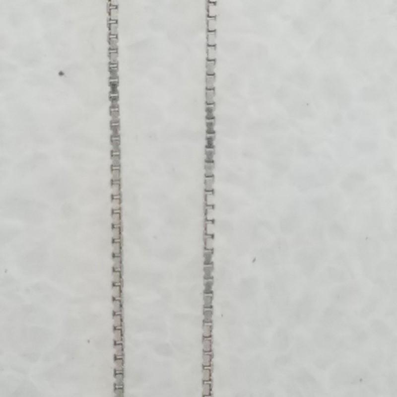 Diamond Necklace 8 Diamonds .80 Carat T.W. 14K White Gold 2.75g