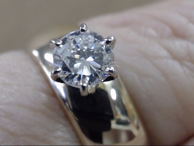NATURAL DIAMOND .40 TCW ENGAGE WED RING WIDE BAND 6MM 14K GOLD SZ 5