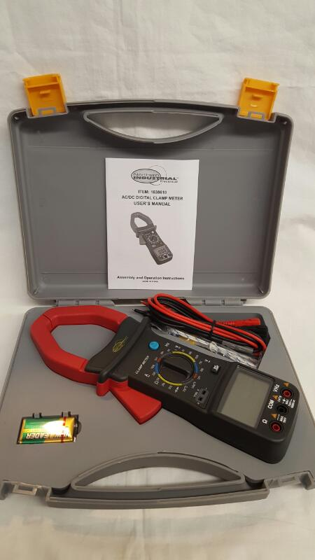 NORTHERN INDUSTRIAL AC/DC Digital CLAMP METER