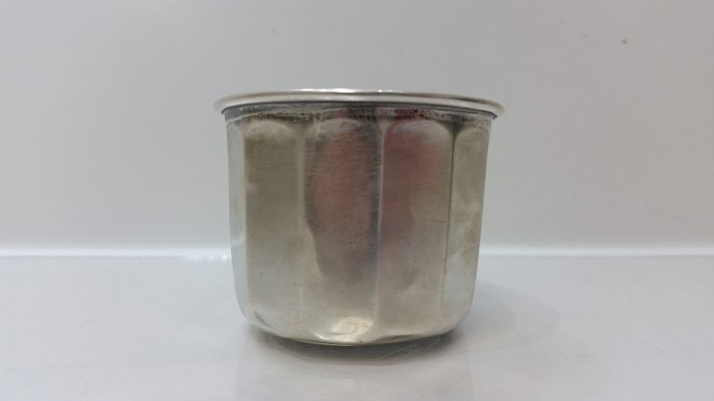 Antique Vintage Webster Solid Sterling Silver Ridged Baby Cup NO MONO