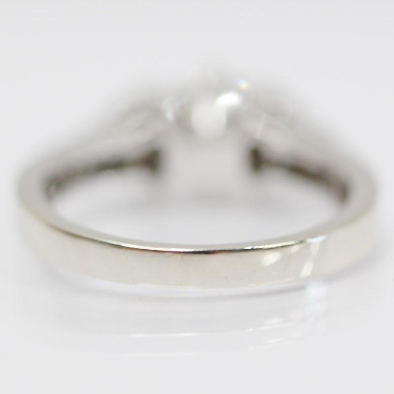 Lovely 14K White Gold Multiple Round Brilliant Diamond Ring Size 6.5