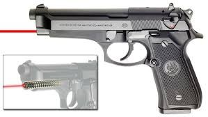 BERETTA 92FS WITH LASERMAX GUIDE ROD LASER