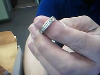 Lady's Gold-Diamond Anniversary Ring 9 Diamonds .36 Carat T.W. 14K Yellow Gold