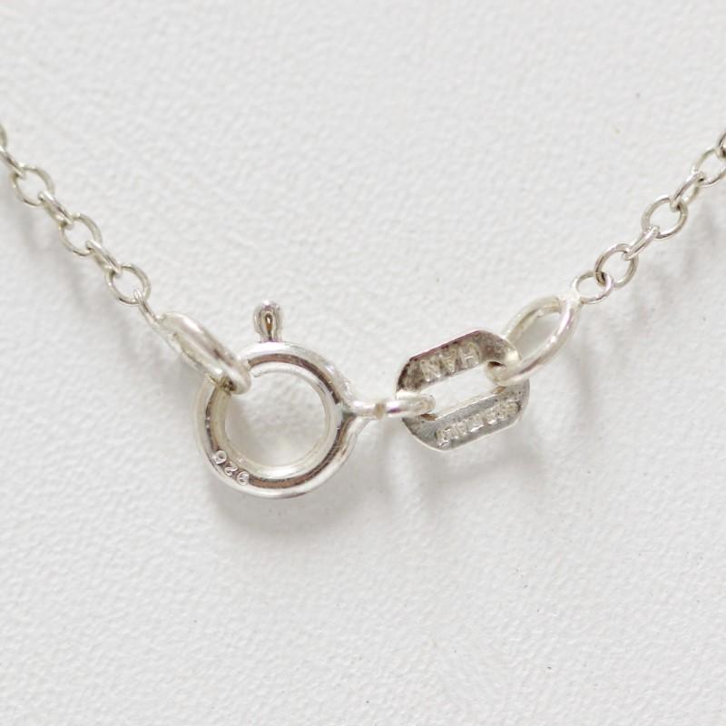 Sterling Silver Tear Drop Amethyst Pendant & Chain Necklace