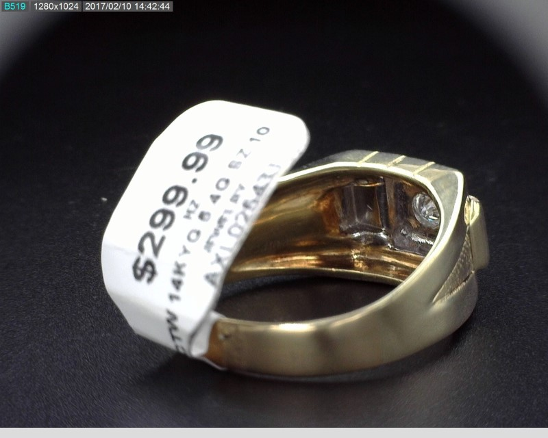 MEN'S 14K YG VINTAGE DIAMOND RING APX.10CT SZ. 10 3.8MM
