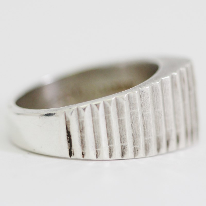 Sterling Silver Stair Step Ring Size 7.75