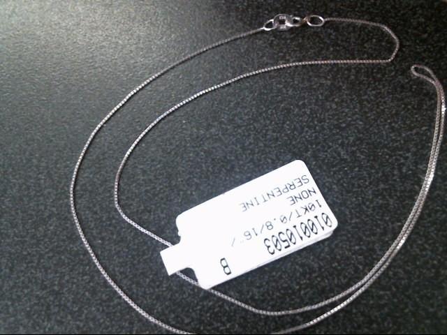 SERPENTINE Gold Serpentine Chain 10K White Gold 0.6dwt