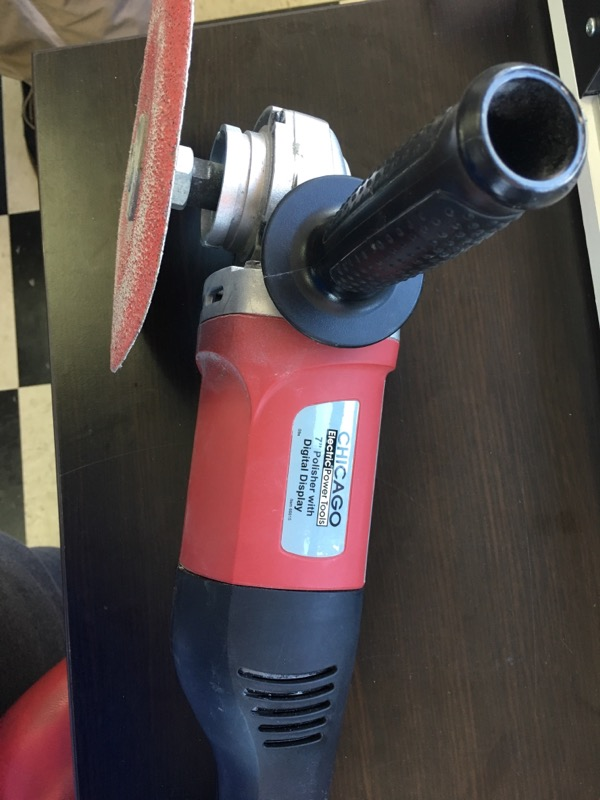 """Chicago Electric 7"""" Electronic Polisher/Sander with Digital RPM Mod #66615"""