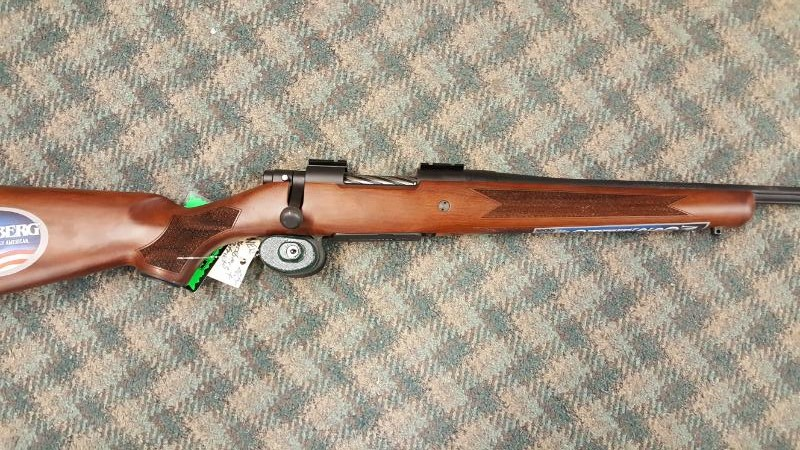 """MOSSBERG PATRIOT 243, WOOD, 22"""" BOLT ACTION RIFLE - NEW"""