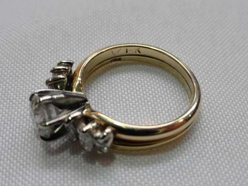 Lady's Diamond Ring 7 Diamonds 1.47 Carat T.W. 14K Yellow Gold 5g