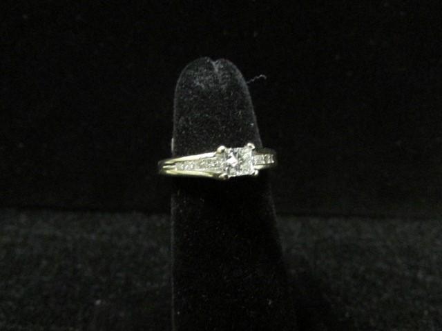 Lady's Diamond Fashion Ring 11 Diamonds 0.7 Carat T.W. 14K White Gold 3.6g Size: