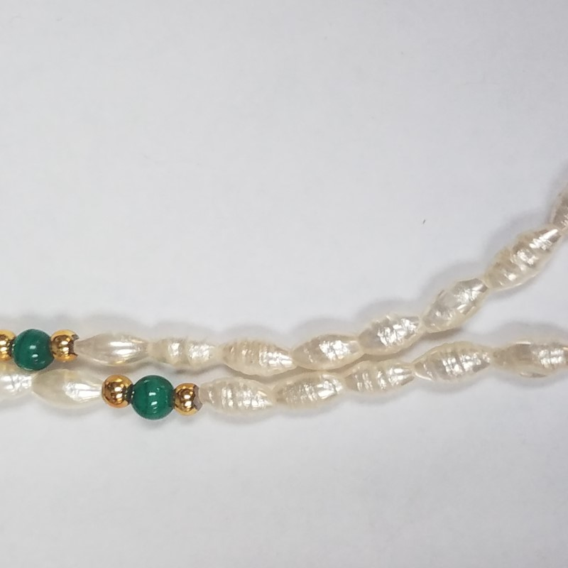 """34"""" Cultured Pearl Strand Necklace W/ 14K Yellow Gold 14.9g"""