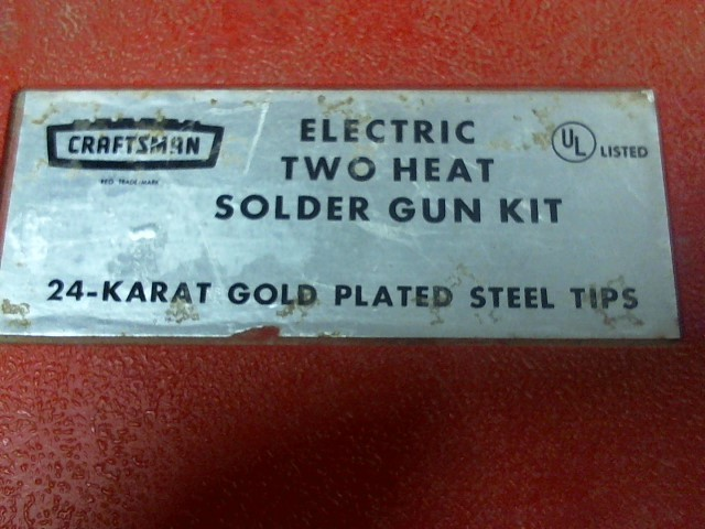 CRAFTSMAN SOLDER GUN KIT
