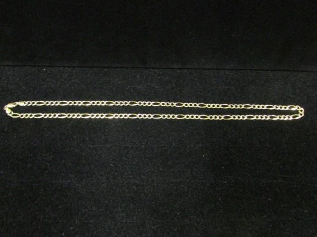 """21"""" Gold Figaro Chain 14K Yellow Gold 10.3g"""