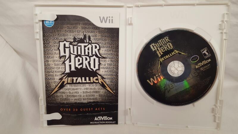 Nintendo Wii Game GUITAR HERO METALLICA