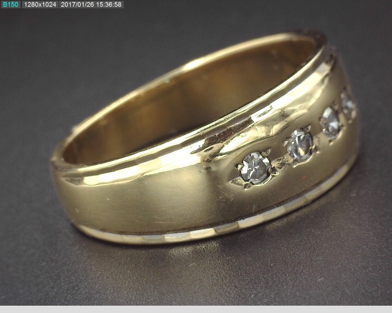 MEN'S SINGLE CUT DIAMOND WIDE BAND APX.15C.T.W 14KYG SZ.11