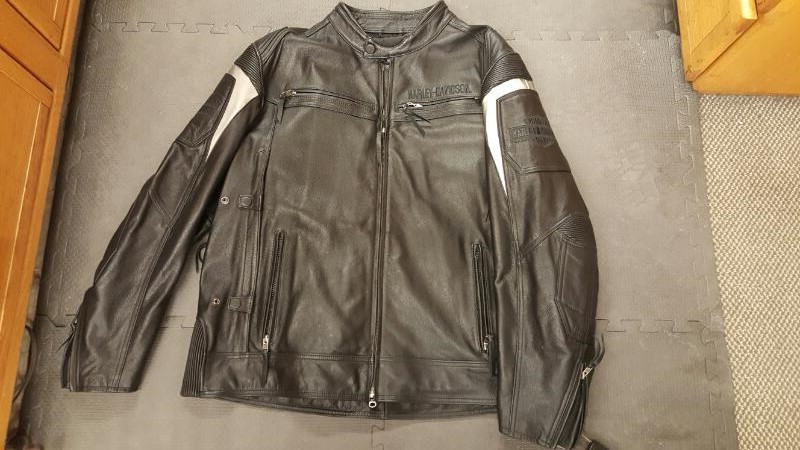 Harley-Davidson Men's Rivage Mid-Weight Leather Jacket Black 97008-14VM, Size 3X