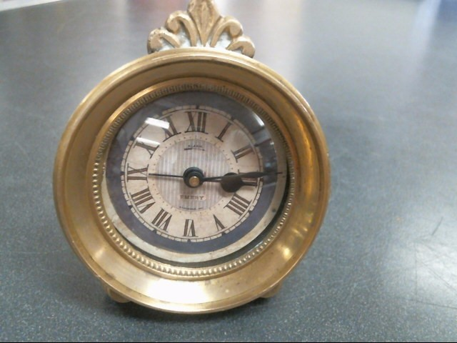 TIMEWORKS Clock EMERY BRASS CLOCK