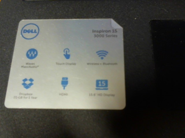 DELL LAPTOP 3000 SERIES
