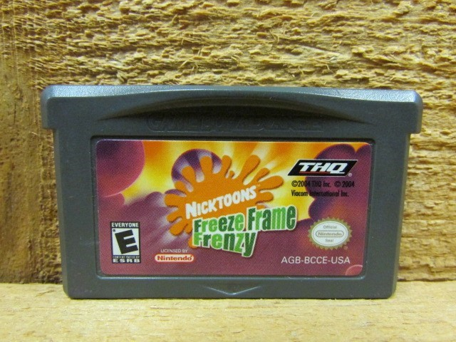 NINTENDO Nintendo GBA Game NICKTOONS FREEZE FRAME FRENZY (GBA)(04)