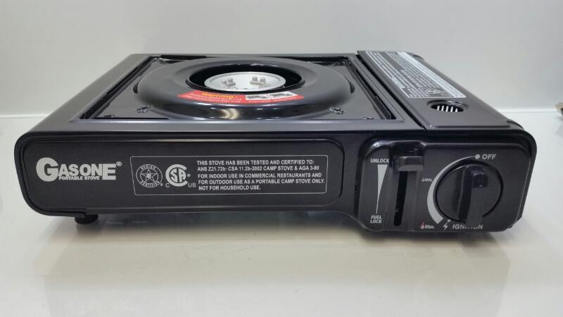 Gasone Portable Butane Single Burner Camping Stove w/ Case GS1000