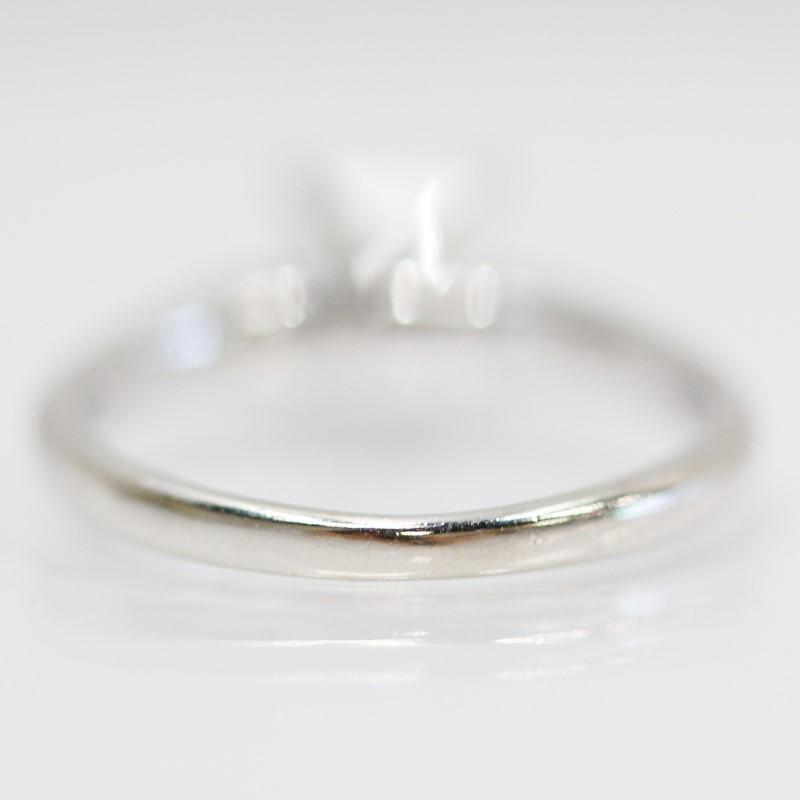 14K White Gold Princess Cut Diamond Solitaire Ring Size 5.25