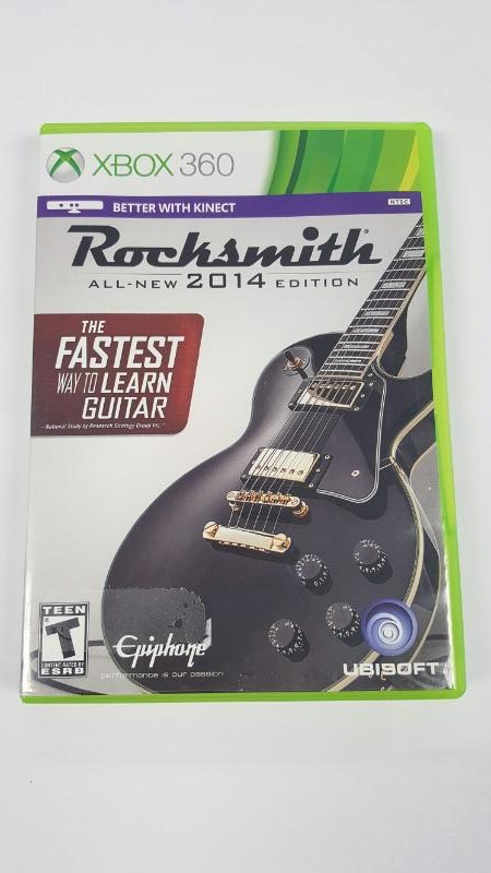 Rocksmith 2014 Edition WITH GUITAR CABLE!!! (Microsoft XBOX 360)