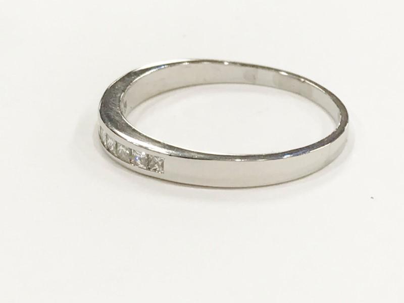Diamond Wedding Band 8 Diamonds .40 Carat T.W. 18K White Gold 3.8g