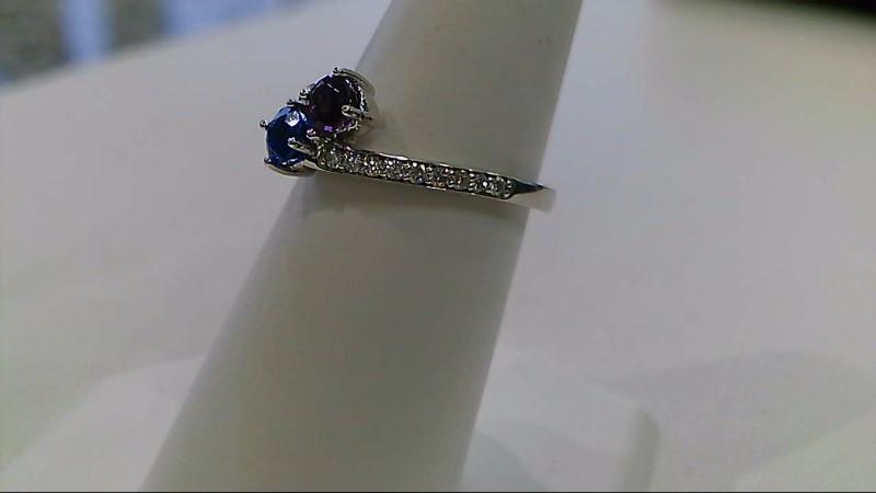 Lady's Diamond Fashion Ring 18 Diamonds .18 Carat T.W. 14K White Gold 2.9g