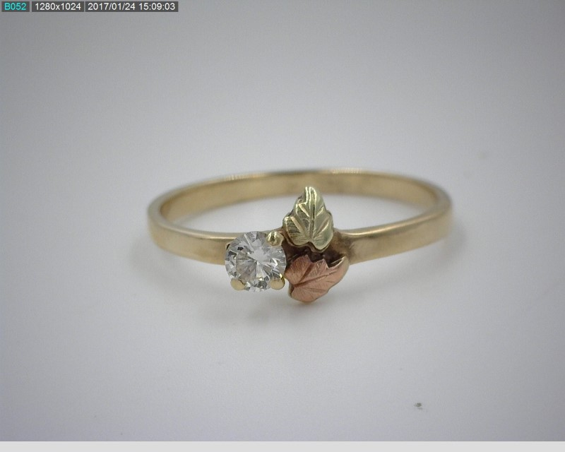 BLACK HILLS GOLD APX.10CTW SOLITAIRE LADY'S RING 10K SZ6.75
