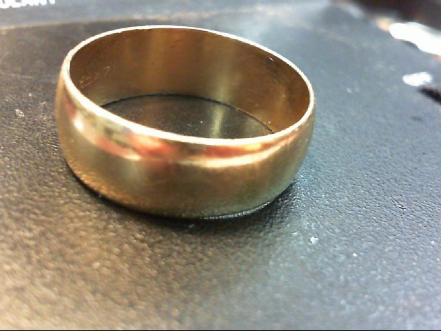 Gent's Gold Wedding Band 14K Yellow Gold 6.4g Size:11