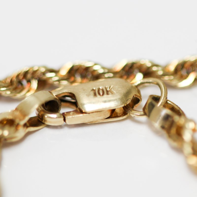 "Unisex 24"" 14K Yellow Gold Rope Chain"