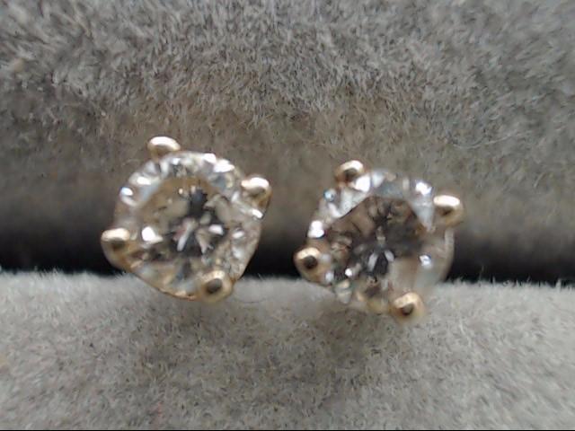 NATURAL DIAMOND 0.20tcw STUD EARRINGS 14k YELLOW GOLD SCREW BACK