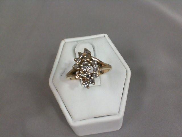 Lady's Diamond Fashion Ring 11 Diamonds .45 Carat T.W. 14K Yellow Gold 3.68g
