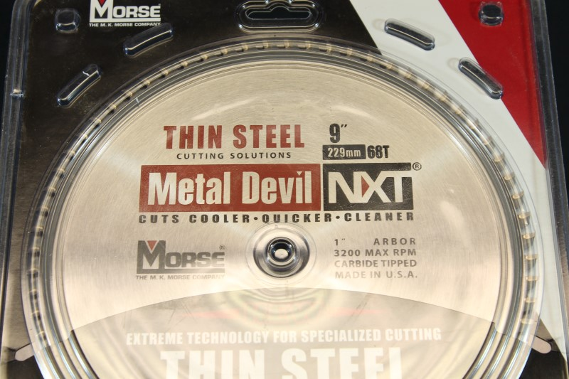 "9"" MK Morse CSM968NTSC Metal Devil NXT 68T Thin Steel Cutting Blade"