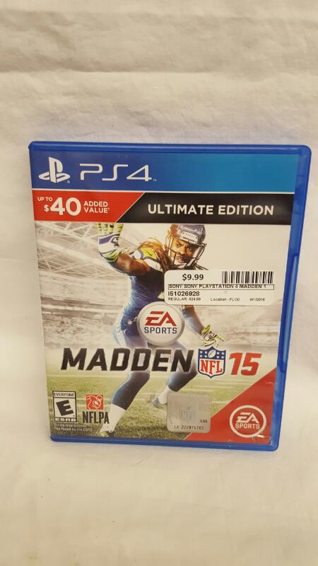 Sony PlayStation 4 Game MADDEN NFL 15