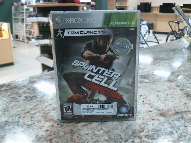 MICROSOFT Microsoft XBOX 360 Game SPLINTER CELL CONVICTION