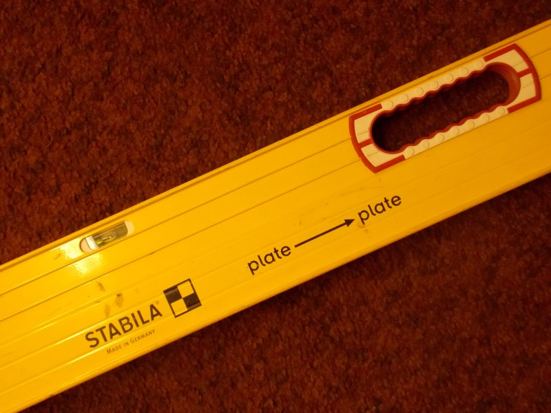 "STABILA 6' TO 10'-3 3/4"" PLATE LEVEL WITH REMOVABLE STAND-OFFS"
