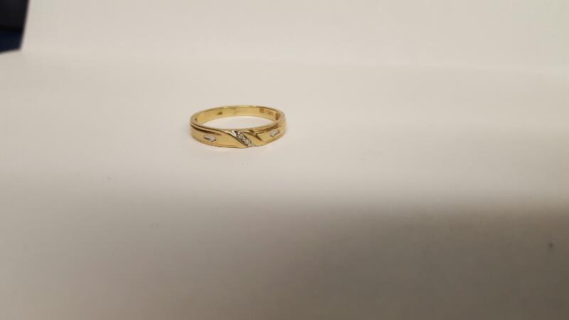 Lady's Gold Ring 10K Yellow Gold 1.73g Size:6.8